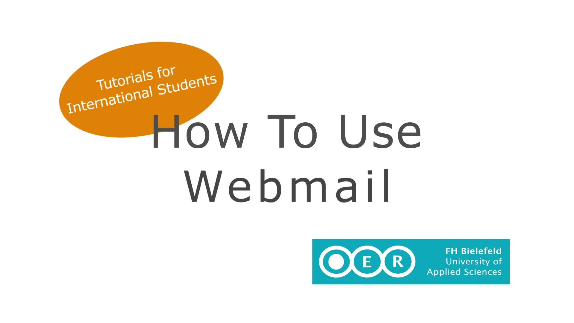 How to Use Webmail - Tutorial for International Students