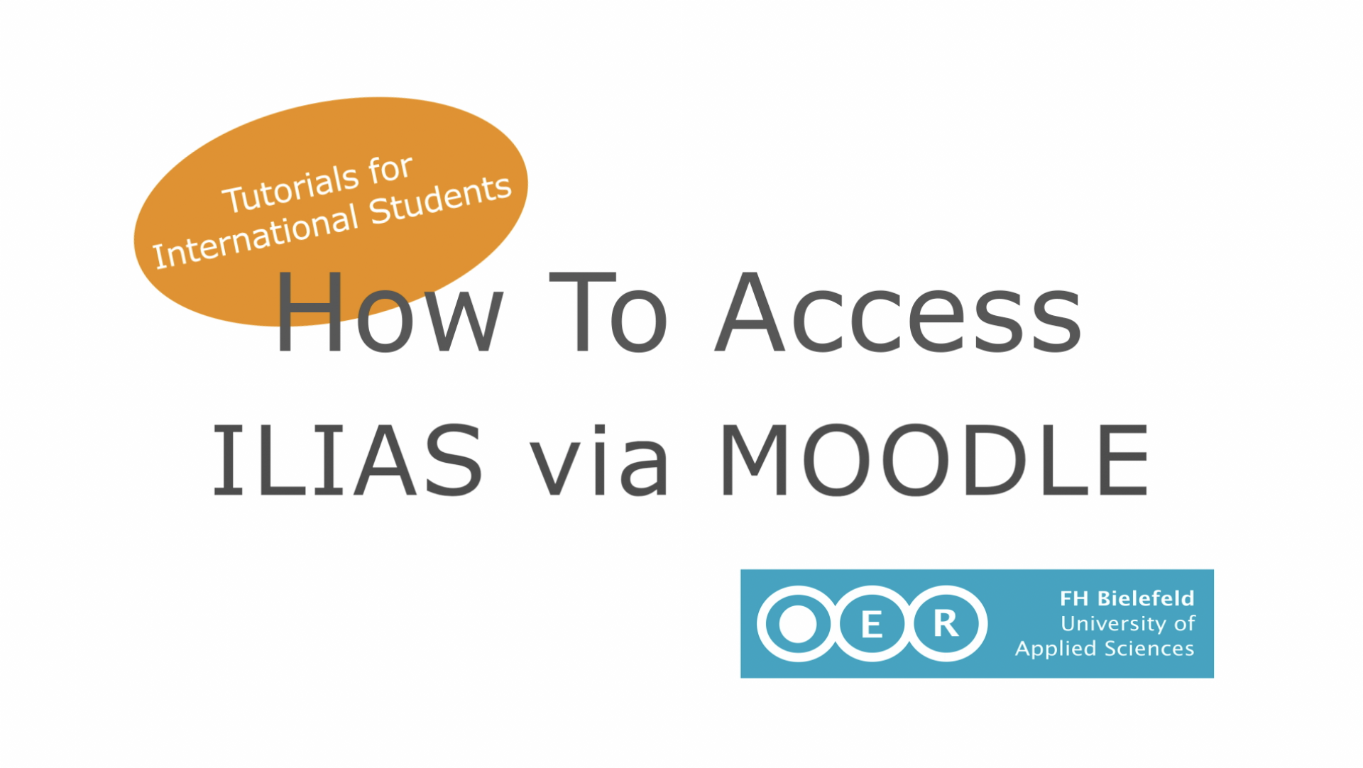 How to Access ILIAS via MOODLE - Tutorial for International Students