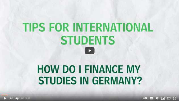 Deutsches Studentenwerk_Tips for International Students - How do I finance my studies in Germany